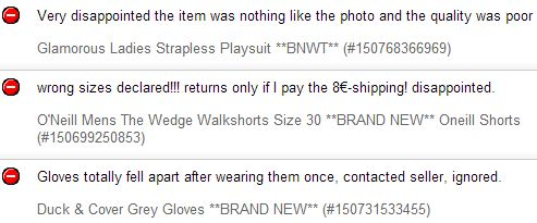 Ebay negative feedback removal explained a classic example spiritdancerdesigns Gallery
