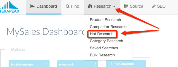 terapeak-hot-research