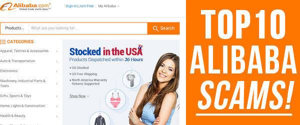 Top 10 Scams on Alibaba com!