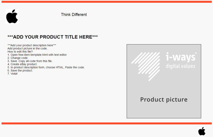 eBays NEW Feature FREE eBay Listing Template BUILDER – Product Description Template