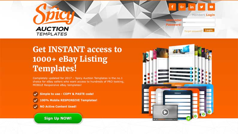 Spicy auction templates are now fully mobile responsive pronofoot35fo Image collections