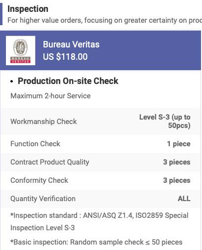 Bureau Veritas inspection service