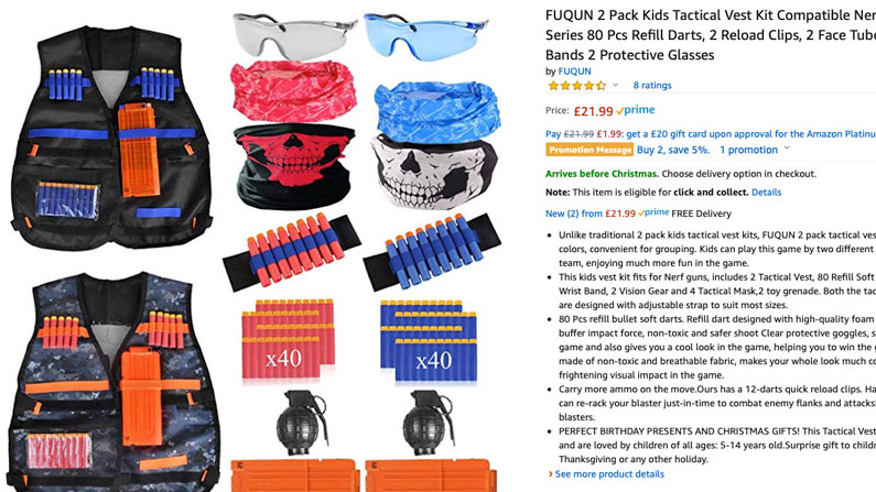 Nerf accessories set