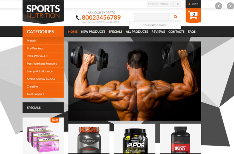 Supplements dropshipping store