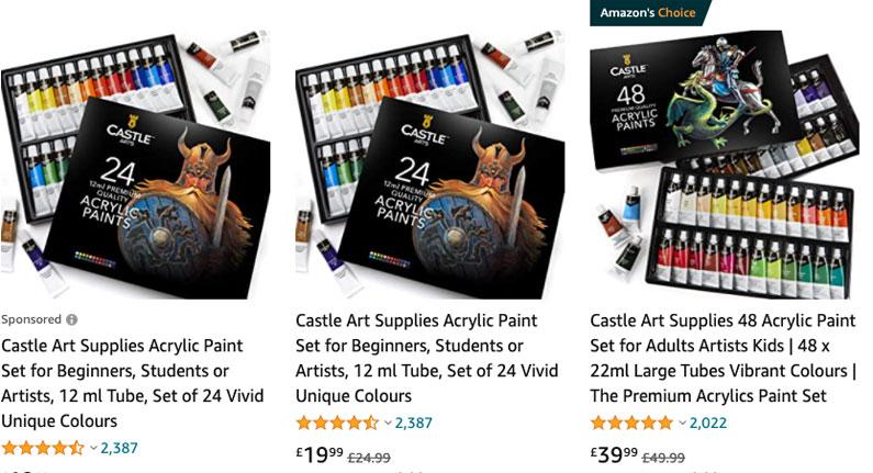 Castle arts paints