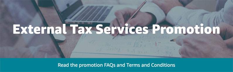 Amazon External Tax Services Promotion