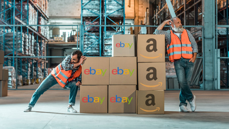 eBay and Amazon product research
