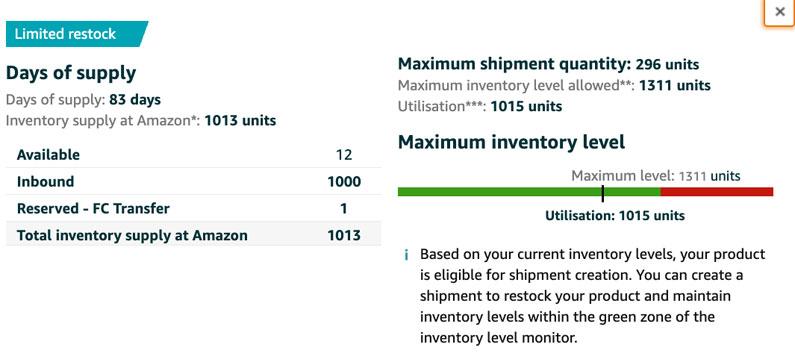 Amazon 200 Units Limit