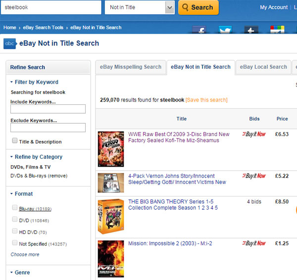 steelbook-search-results