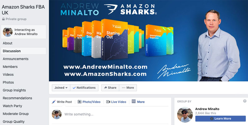 Amazon Sharks Facebook group