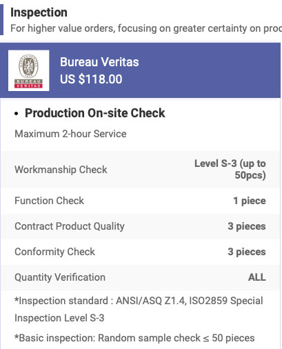 Bureau Veritas inspection service