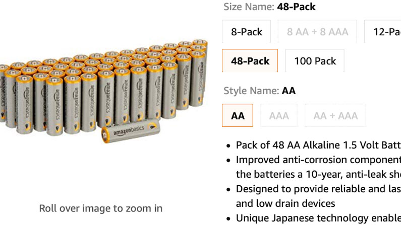 Battery Quantity