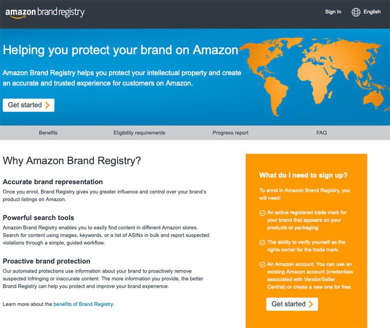 Amazon UK Brand Registry