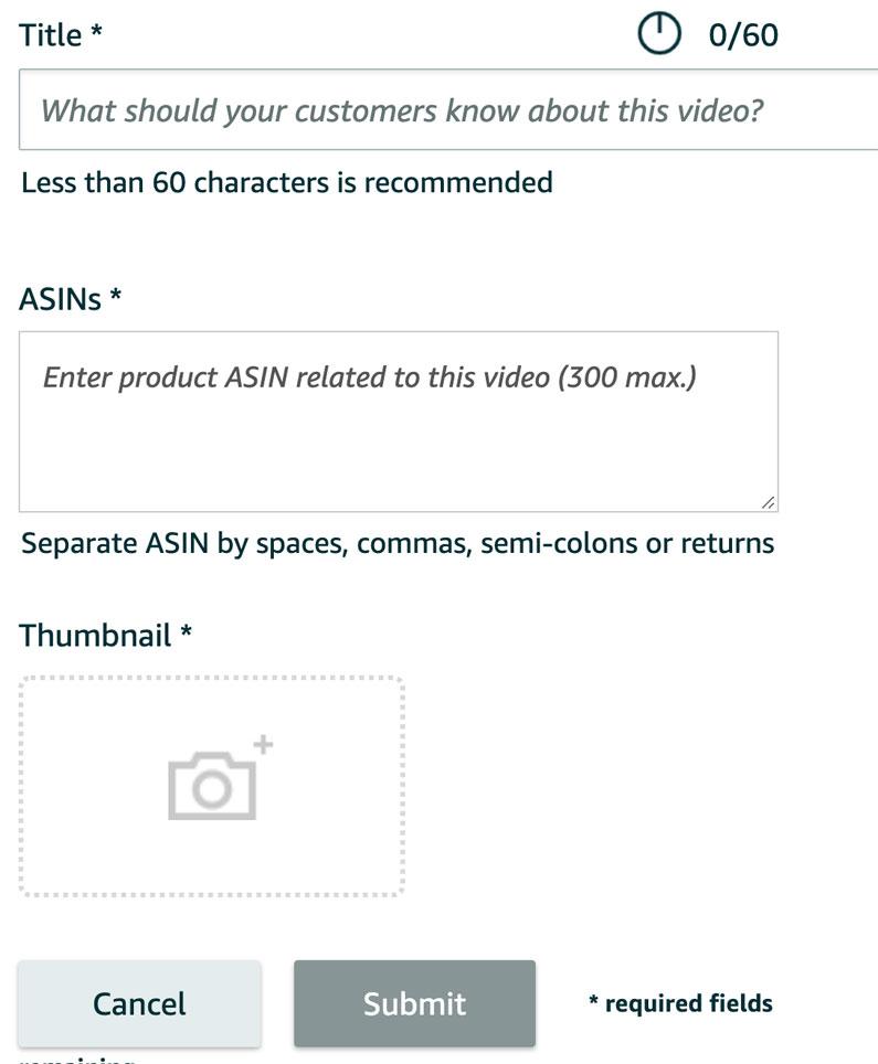 Amazon UK Video Settings