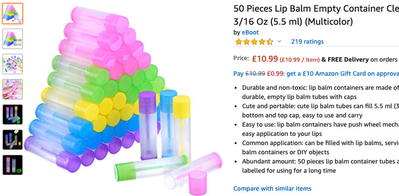 Lip Balm Tubes Wholesale